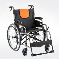 鱼跃轮椅H062铝合金老人轮椅折叠轻便便携小老年手动代步车手推车